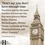 Don't Say You Don't Have Enough Time