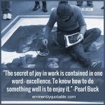 The Secret Of Joy In Work Is Contained In One Word – Excellence