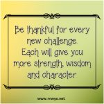Be Thankful for Every New Challenge