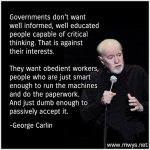 Governments Don't Want Well Informed
