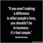If You Aren't Making a Difference in Other People's Lives