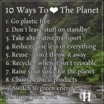 10 Ways To Love The Planet