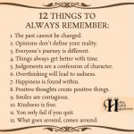 12 Things To Always Remember