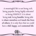 A Meaningful Life Is Not Being Rich