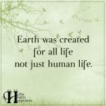 Earth Was Created For All Life Not Just Human Life