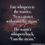 Fate Whispers To The Warrior