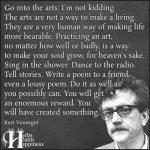 Go Into The Arts