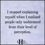 I Stopped Explaining Myself