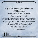 If You Fail Never Give Up