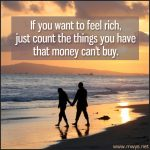 If You Want To Feel Rich…