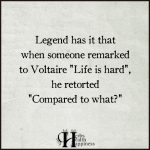 Legend Has It That When Someone