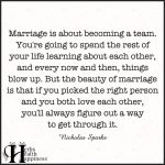 Marriage Is About Becoming A Team