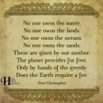 No One Owns The Water