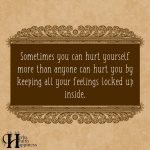 Sometimes You Can Hurt Yourself More Than Anyone