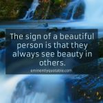 The Sign Of Beautiful Person