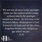 We Are Not All Stars In The Spotlight
