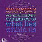 What Lies Behind Us…