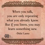 When You Talk, You Are Only Repeating