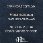 Stupid People Don't Learn