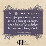 The Difference Between A Successful Person