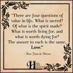 There Are Four Questions Of Value In Life