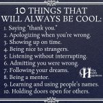 10 Things That Will Always Be Cool