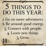 5 Things To Do This Year