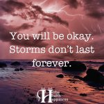 You Will Be Okay. Storms Don't Last Forever.