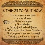 8 Things To Quit Right Now