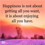 Happiness Is Not About Getting All You Want