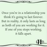 Once You're In A Relationship